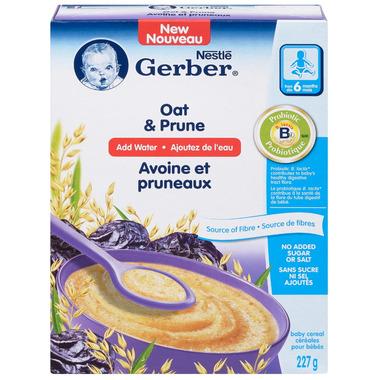 Gerber Baby Cereal Oat & Prune (Add Water)