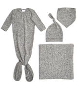 aden+anais Snuggle Knit Newborn Gift Set Heather Grey