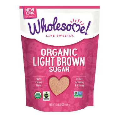 Wholesome Sweeteners Organic Fair-Trade Light Brown Sugar