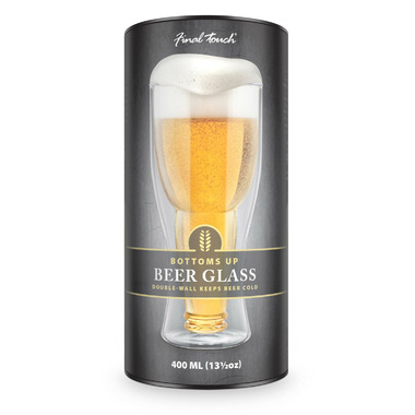 Final Touch Bottoms Up Beer Glass