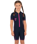 Level Six Aurora Girl's SPF 50 Sunsuit Navy