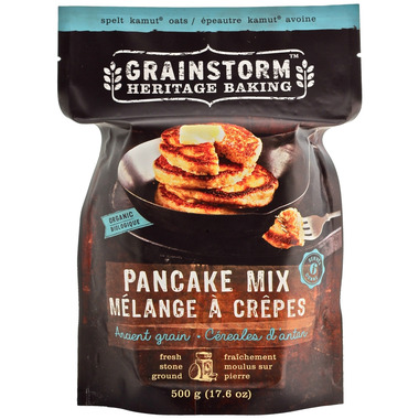 Grainstorm Heritage Baking Organic Ancient Grain Pancake Mix