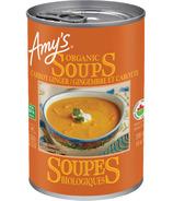 Amy's Kitchen Soupe Carotte et Gingembre Biologique