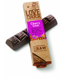 Lovechock Cherry and Chilli Raw Organic Dark Chocolate Bar