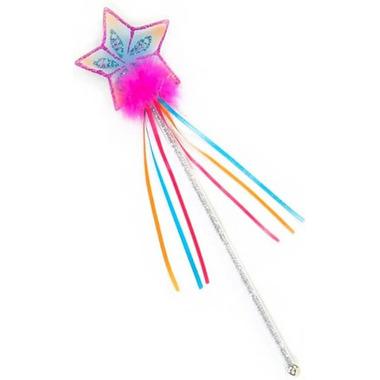 Great Pretenders Glitter Rainbow Wand Multi Pastel Hot Pink