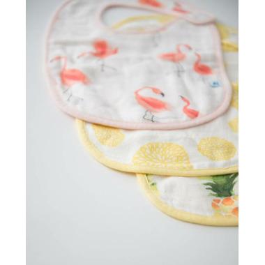 Little Unicorn Deluxe Muslin Classic Bib Set Pink Ladies