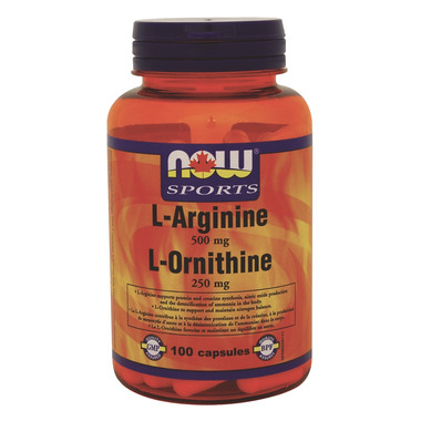 NOW Sports L-Arginine 500mg & L-Ornithine 250 mg