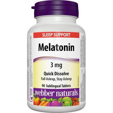 Webber Naturals Melatonin Tablets