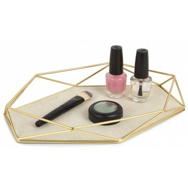 Umbra Prisma Jewelry Tray Matte Brass