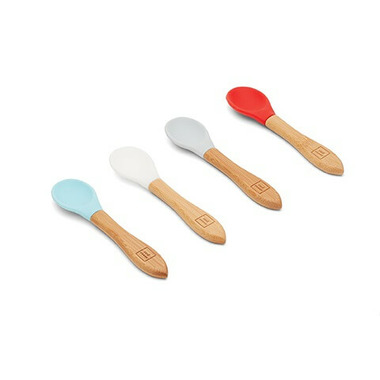 Red Rover Bamboo Spoon with Silicone