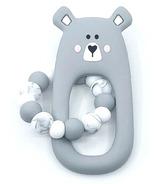 Little Cheeks Bear Ring Grey