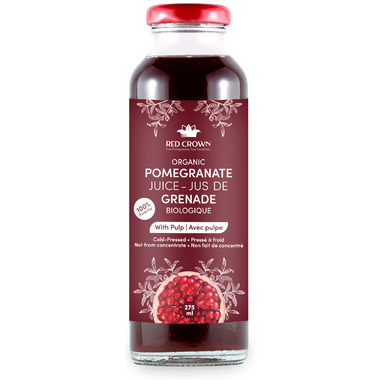 Red Crown 100% Pure Organic Pomegranate Juice with Pulp