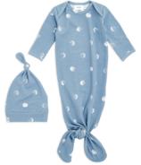 aden+anais Comfort Knit Blue Moon Gown + Hat Set 0-3M