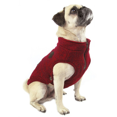 Canada Pooch Northern Knit Sweater in Salt & Pepper Size 22