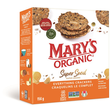 Mary\'s Organic Crackers Everything Super Seed Crackers