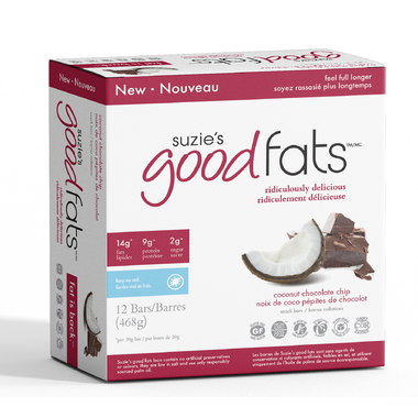 Suzie's Good Fats Coconut Chocolate Chip Snack Bars