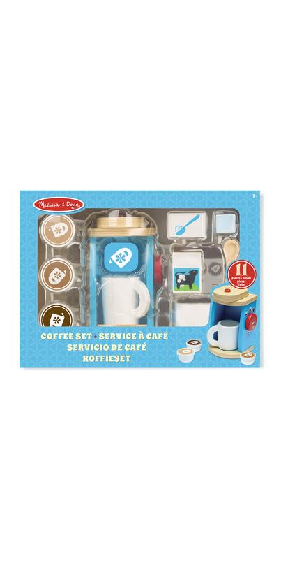 Melissa Doug Wooden Brew Serve Coffee Set
