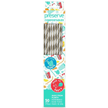 Preserve Compostables Straws Natural