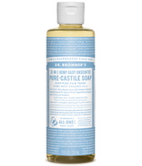 Dr. Bronner's Organic Pure Castile Liquid Soap Baby Unscented 8 Oz