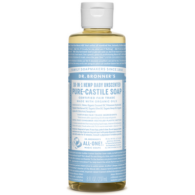 Dr. Bronner\'s Organic Pure Castile Liquid Soap Baby Unscented 8 Oz