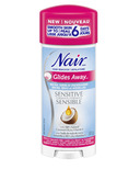 Nair Glides Away Sensitive Formula Hair Remover For Bikini Arms Underarms