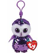 Ty Flippables Moonlight Owl Sequin Purple Clip