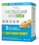 No Sugar Company Keto Bar Chocolate Chip Cookie Dough Case