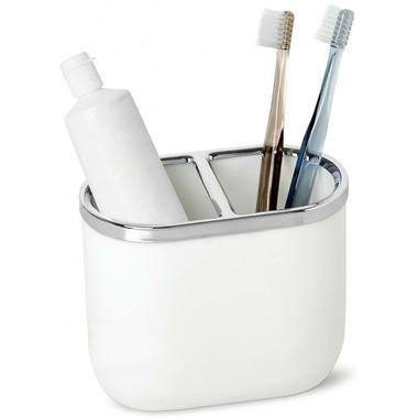 Umbra Junip Toothbrush Holder Chrome and White