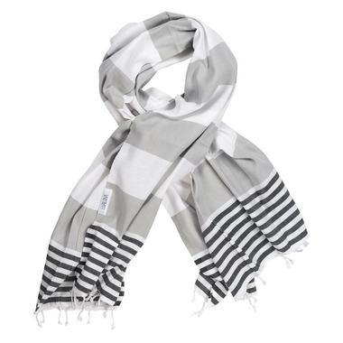 Lualoha Turkish Towel Striped Goodness Grey & Black