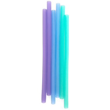 Silikids Reusable Silicone Straws Ombre Blue