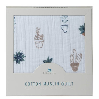 LIttle Unicorn Muslin Quilt Prickle Pots