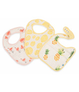 Little Unicorn Deluxe Muslin Classic Bib Set Pink Ladies