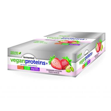 Genuine Health Fermented Vegan Proteins+ Bar Case Strawberry Pistachio