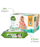 Seventh Generation Size 4 Diapers & Wipes Bundle