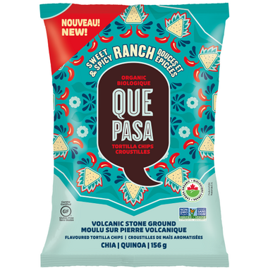 Que Pasa Sweet & Spicy Ranch Organic Tortilla Chips