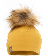 Lox Lion 3 Seasons Hat with Pompom Mustard Yellow