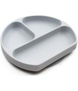 Bumkins Grey Silicone Grip Dish