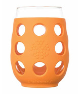 Lifefactory Small Wine Glass Orange