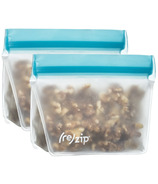(re)zip Stand-Up 8oz Reusable Snack Bags Aqua
