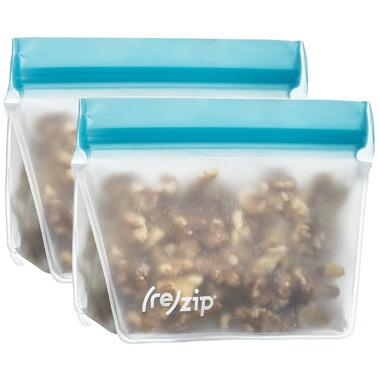(re)zip Stand-Up 8oz Reusable Snack Bags Aqua