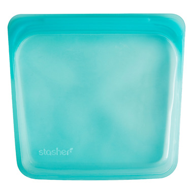 Stasher Reusable Storage Bag Aqua