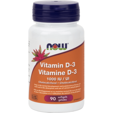 NOW Vitamin D-3 1000 IU Softgels