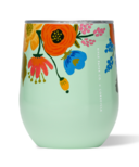 Corkcicle Rifle Paper Co. Stemless Gloss Mint Lively Floral