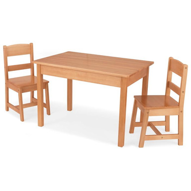 KidKraft Rectangle Table & Chair Set Natural