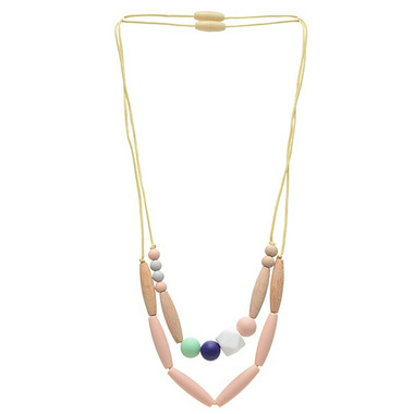 Chewbeads Metropolitan Teething Necklace Blush