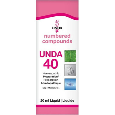 UNDA Numbered Compounds UNDA 40 Homeopathic Preparation