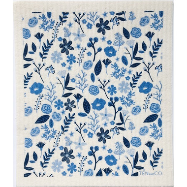 Ten & Co. Swedish Sponge Cloth Floral Blues
