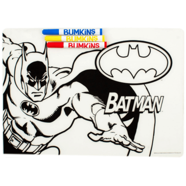 Bumkins DC Comics Silicone Colouring Mat Batman
