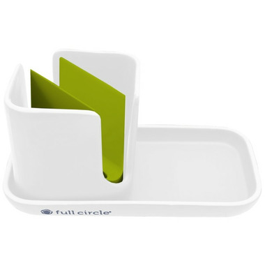 Full Circle Stash Sink Caddy White