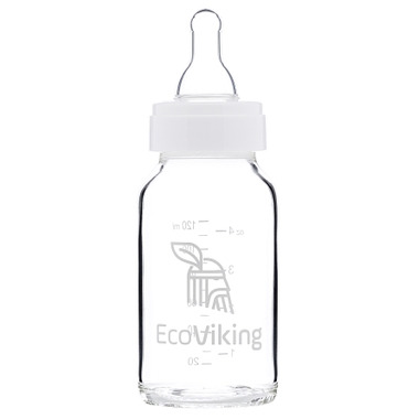 EcoViking Glass Baby Bottle Mint Breeze 120mL